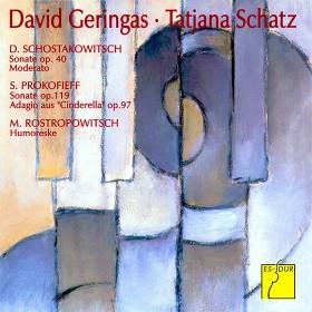 David Geringas, Cello and Tatjana Schatz, Klavier spielen Schostakowitsch, Prokofieff und Rostropowitsch
